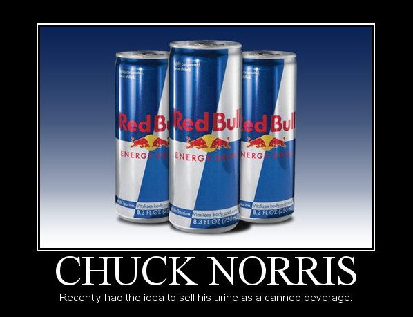 Chuck Norris Red Bull