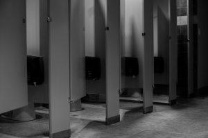 bathroom stall dark