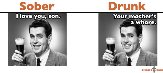 sober vs. drunk