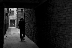 stranger wandering